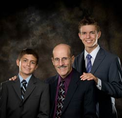 Pastor Doug, Stephen, and Nathan